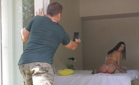Stepsister Caught doing a Livejasmin Cam Show