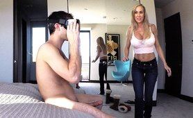 Stepmom Plays With Stepson during Sex VR game