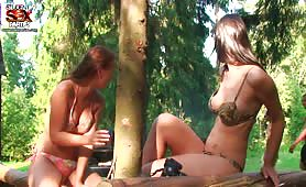 College Teens organize sex party in the woods