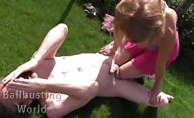 Merciless Outdoor Ballbusting