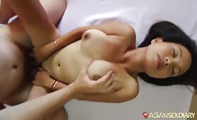 Asian Amateur Tastes Big Dick