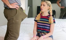 Horny Stepdaughter Lears Her 1st Lesson